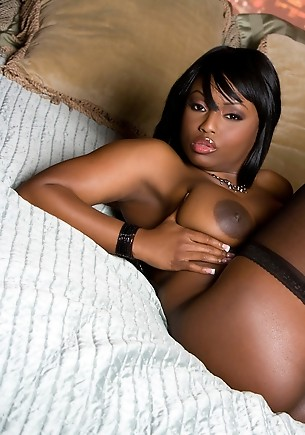 Jada Fire's palm-sized areolae on her huge 36DD boobs plus her full brown ass and her dark chocolate colored pussy lips together are a sexual